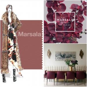 Décoration couleurs tendances marsala