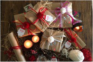 papier cadeau-ruban-pompom-original-kraft-diy-noel