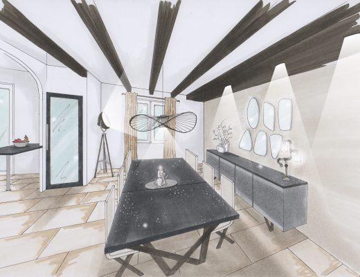 salle a manger style industrielle décoration intérieure
