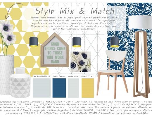 Conseil décoration Mix and Match