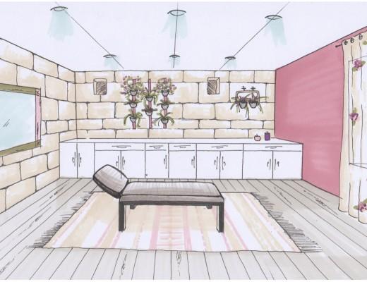Vue 3D décoration intérieure