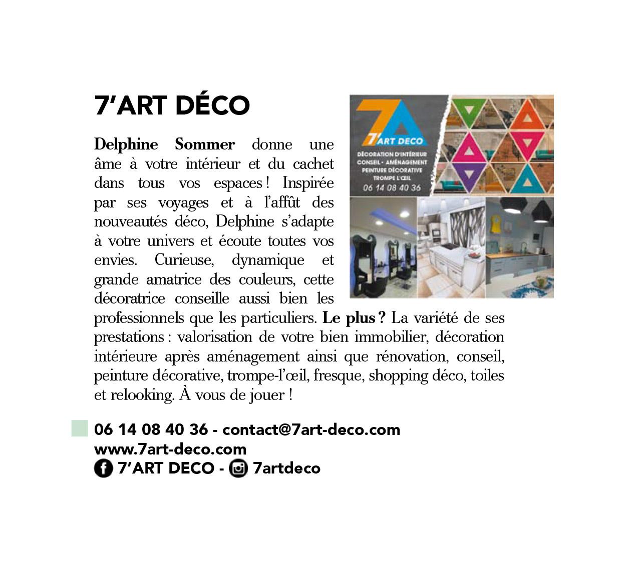"""Article 7'Art déco dans le """"Elle décoration"""" de septembre 2016"""