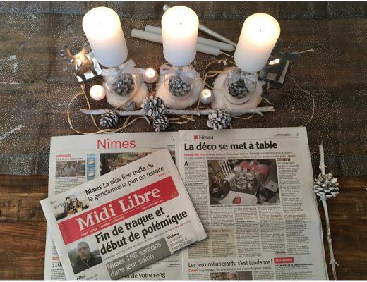 article-midi libre-décembre-2016-noel-decoration de table- décoration-nimes-uzege-camargue-cevennes