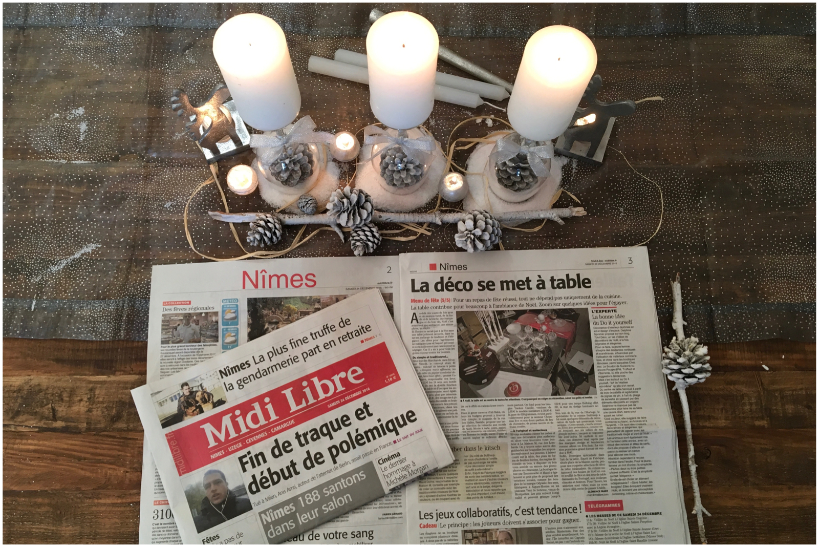 article-midi libre-décembre-2016-noel-decoration de table- décoration-nimes-uzege-camargue-cevennes