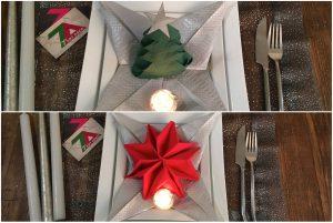 decoration-sapin-flocon-étoile-origami-serviette en papier-original-diy-noel