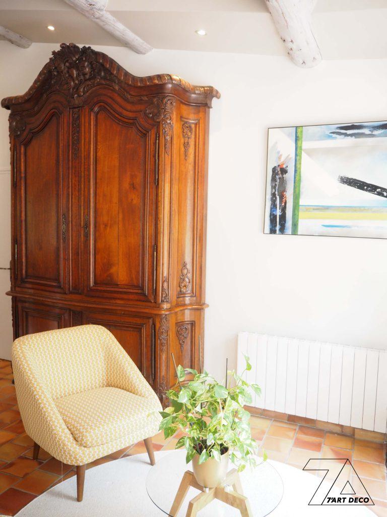 decoration salon melange de style ancien et moderne
