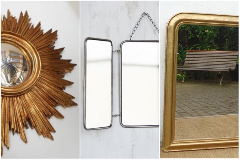 Brocante et déco éco-friendly miroir ancien miroir barbier miroir sorcière decoration interieure chiner