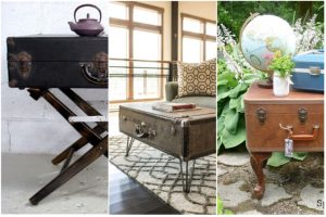 table basse valise ancienne chiner